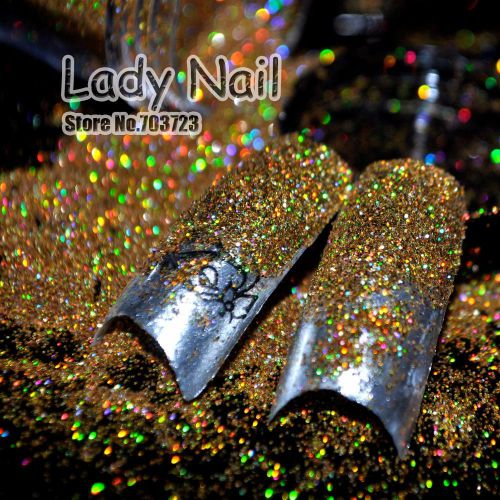 Nail Art Glitter Holographic Gold №47