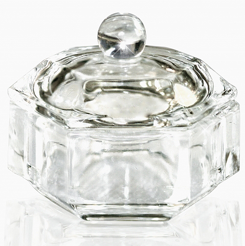 Transparent Glass Cup with Cap for Fluid 25 мл