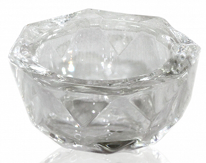 Transparent Glass Cup without Cap for Fluid 20 мл