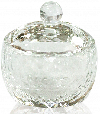 Transparent Glass Cup with Cap for Fluid 30 мл