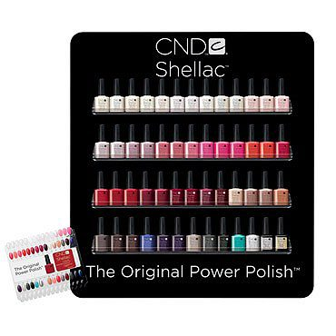 Shellac Salon Wall Rack