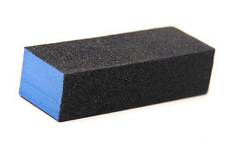 Block Buffer Blue in Black 280 грит