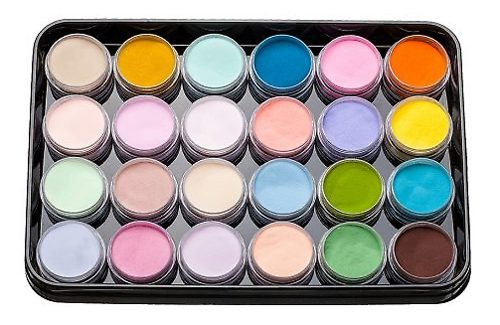 Colored Acrylics Kit L 2 24 шт