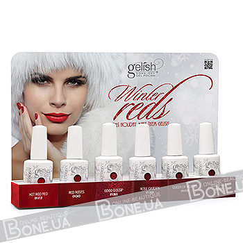 Gelish Winter Reds Collection 6 шт.