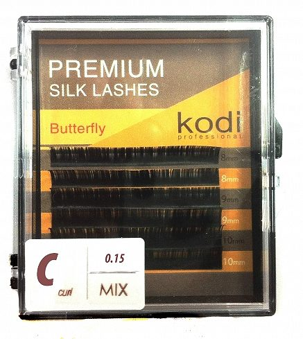 Eyelashes Mix С /0,15 мм/10-12 мм Butterfly pack