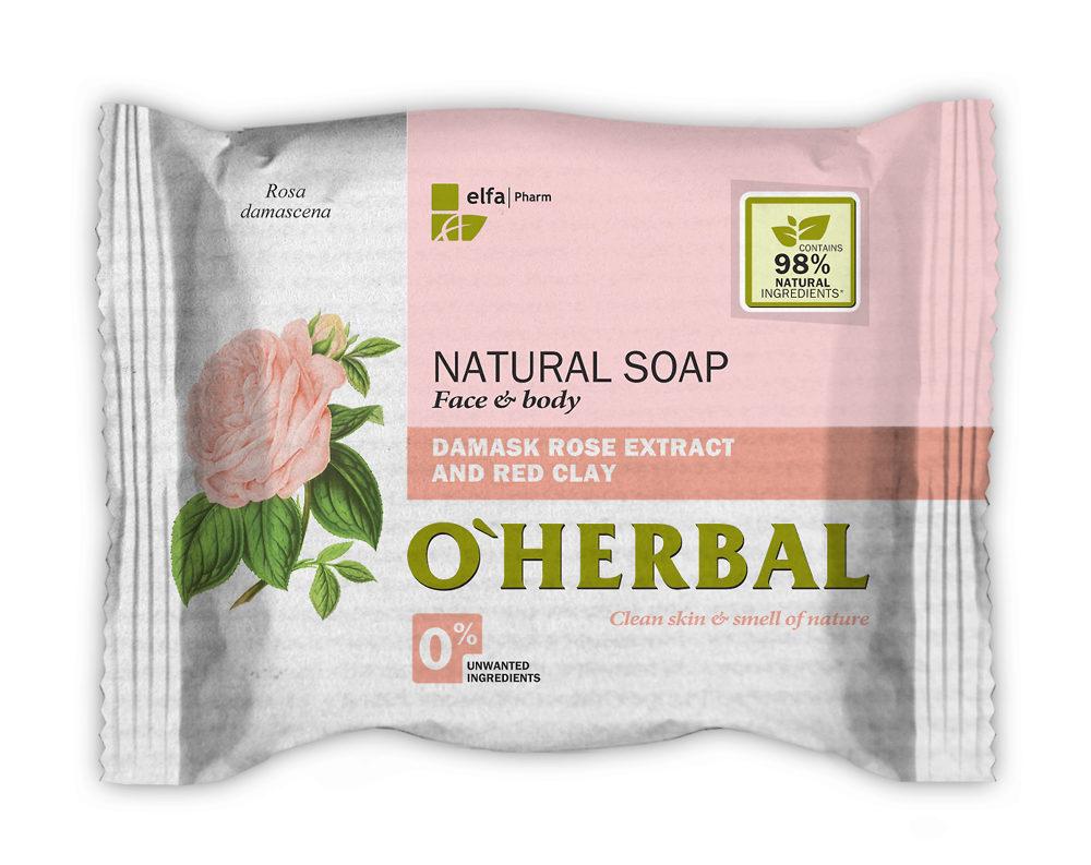 Натуральное мыло из дамасской розы