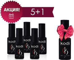 Gel Polish Set 5 plus 1 12 мл