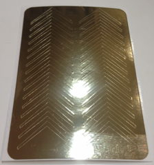 Metallised Designs from thin foil 002g