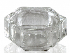 Transparent Glass Cup without Cap for Fluid 25 мл