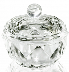 Transparent Glass Cup with Cap for Fluid 20 мл