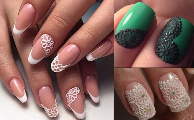 дизайн ногтей с пластилином